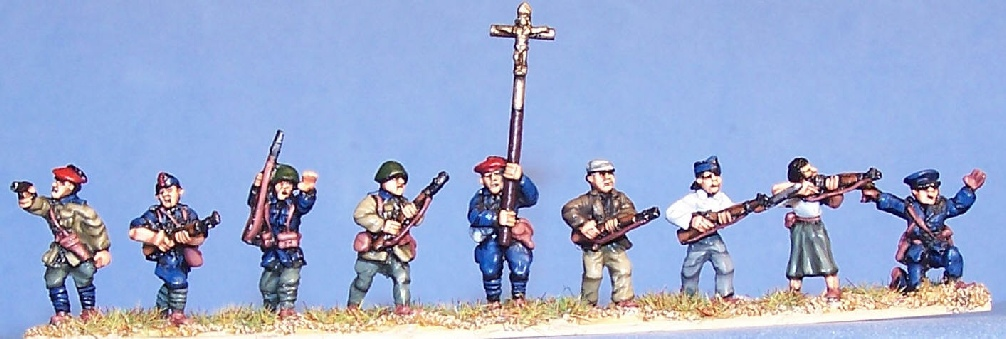 15mm SCW figures by Peter Pig for SCW wargaming
