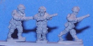15mm WW2 US figures - Airborne rifles dvancing