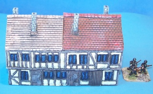 15mm Tudor house for wargames scenery