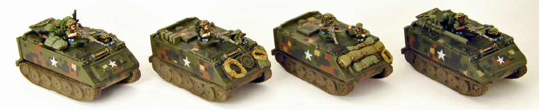 15mm Vietnam  - painted M113's