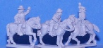 15mm ACW figures - Confederate mounted commanders